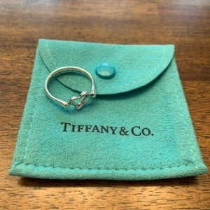 Tiffany and Co Open Heart Ring Size 8